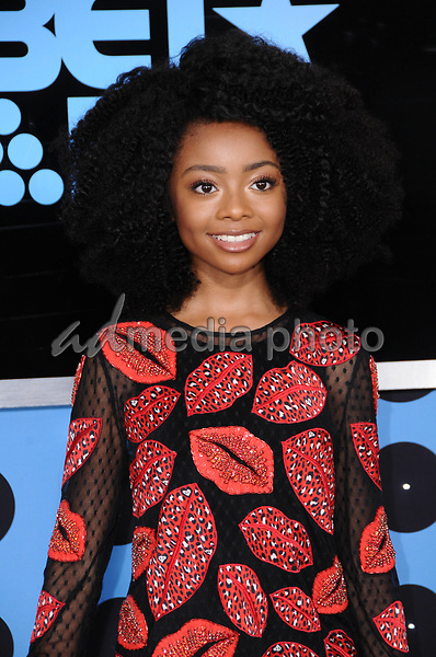 25 June 2017 - Los Angeles, California - Skai Jackson. 2017 BET Awards held at the Microsoft Square in Los Angeles. Photo Credit: Birdie Thompson/AdMedia