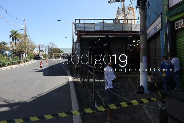 Campinas (SP), 01/09/2021 - Violência-SP - A GM (Guarda Municipal) de Campinas encontrou na manhã desta quarta-feira (1º) uma granada em uma das entradas do Terminal Central, no Centro de Campinas. O artefato está próximo à entrada do camelô, no início da Avenida Moraes Salles. A Guarda foi ao local por volta de 13h15 e está no Terminal fazendo a segurança do espaço. A pista da esquerda da avenida está bloqueada. À 13h43, a GM informou que o Gate (Grupo de Ações Táticas Especiais), da PM (Polícia Militar), foi acionado.