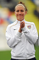 Lauren Cheney. The USA defeated Norway 2-1 at Olhao Stadium on February 26, 2010 at the Algarve Cup.