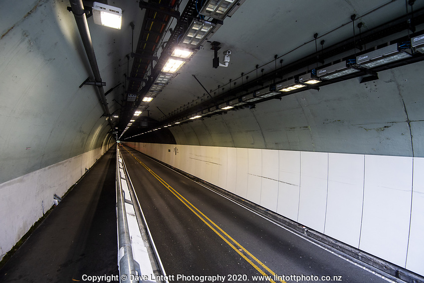 Victoria Tunnel at 1.30pm, Monday during lockdown for the COVID19 pandemic in Wellington, New Zealand on Monday, 27 April 2020. Photo: Dave Lintott / lintottphoto.co.nz