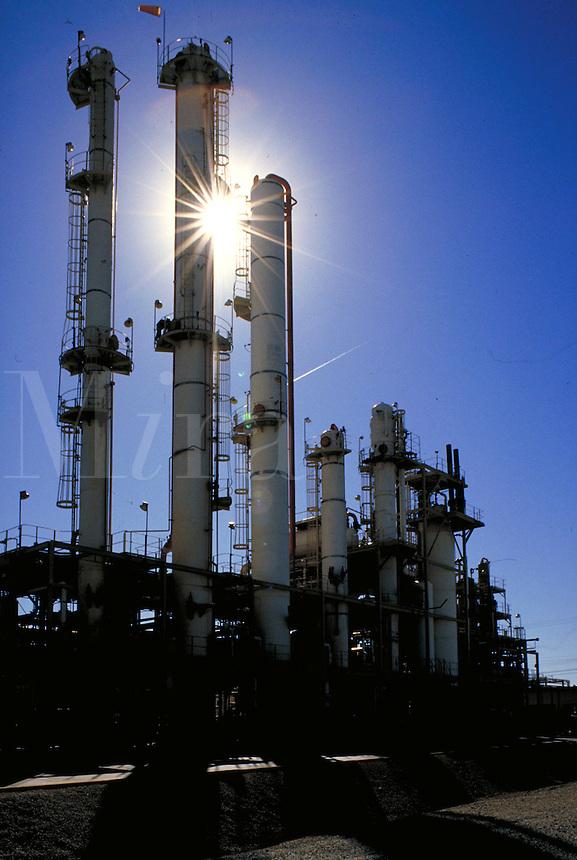 Exterior shot of chemical plant. Wichita Kansas, Vulcan Chemical Plant.