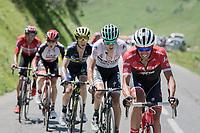 Alberto Contador (ESP/Trek-Segafredo) setting a fierce tempo up the Col de la Colombière<br /> <br /> 69th Critérium du Dauphiné 2017<br /> Stage 8: Albertville > Plateau de Solaison (115km)