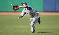 Rogers High School right fielder Jake McCain makes a catch for an out Monday, April 26, 2021, against Har-Ber High School at Arvest Ballpark in Springdale. Check out nwaonline.com/210427Daily/ and nwadg.com/photos for a photo gallery.<br /> (NWA Democrat-Gazette/David Gottschalk)