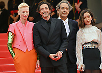 CANNES, FRANCE. July 12, 2021: Tilda Swinton,  Adrien Brody, Alexandre Desplat & Lyna Khoudri  at the gala premiere of Wes Anderson's The French Despatch at the 74th Festival de Cannes.<br /> Picture: Paul Smith / Featureflash