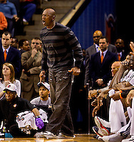 Photography of NBA 2010 game between the Charlotte Bobcats and Toronto Raptors at Charlotte's Time Warner Cable Arena. The Charlotte Bobcats, which play in Time Warner Cable Arena in downtown Charlotte, are part of the Southeastern Division of the National Basketball Association's Eastern Conference.