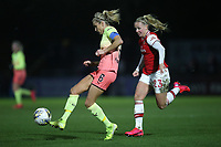 Steph Houghton of Manchester City and Beth Mead of Arsenal during Arsenal Women vs Manchester City Women, FA Women's Continental League Cup Football at Meadow Park on 29th January 2020
