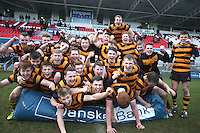 CAI vs RBAI | Tuesday 3rd March 2015<br /> <br /> RBAI celebrate after the 2015 Ulster Schools Cup Semi-Final between Coleraine Inst and RBAI at the Kingspan Stadium, Ravenhill Park, Belfast, Northern Ireland.<br /> <br /> Picture credit: John Dickson / DICKSONDIGITAL