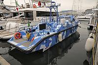 - Viareggio (Toscana), salone della nautica; prototipo del Baglietto FFC15 (Fast Fighting Craft), imbarcazione militare veloce<br /> <br /> - Viareggio (Tuscany), Versilia Yachting Rendez-vous; prototype of Baglietto FFC15, fast military boat