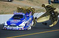 Jul. 30, 2011; Sonoma, CA, USA; NHRA funny car driver Robert Hight during qualifying for the Fram Autolite Nationals at Infineon Raceway. Mandatory Credit: Mark J. Rebilas-