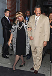 Aretha Franklin and William Wilkerson attending the Broadway World Premiere Launch for 'Motown: The Musical' at the Nederlander in New York. Sept. 27, 2012