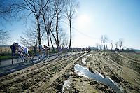 riders over the Ruidenberg<br /> <br /> 3 Days of West-Flanders<br /> stage 2: Nieuwpoort - Ichtegem 186km