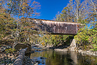 Covered bridge, Bulls Bridge, Kent, Connecticut, USA