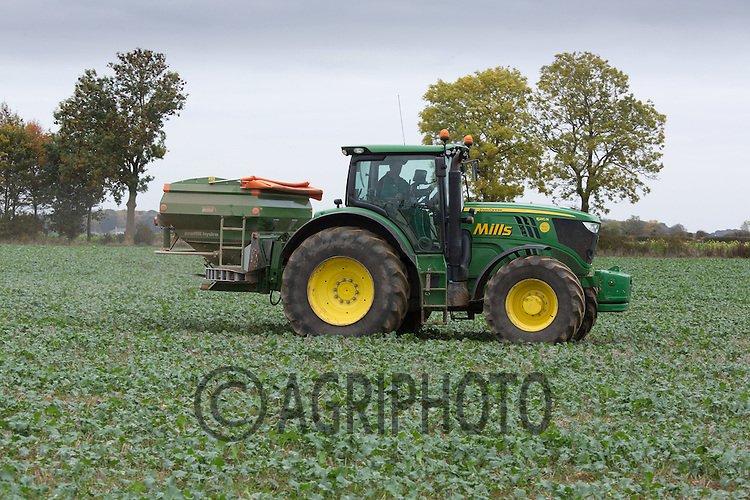 Applying compound to oilseed rape <br /> Picture Tim Scrivener 07850 303986<br /> tim@agriphoto.com<br /> ….covering agriculture in the UK….