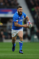 Michele Campagnaro of Italy in action during the Guinness Six Nations match between England and Italy at Twickenham Stadium on Saturday 9th March 2019 (Photo by Rob Munro/Stewart Communications)