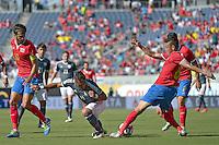 Action photo during the match Costa Rica vs Paraguay, Corresponding Group -A- America Cup Centenary 2016, at Citrus Bowl Stadium<br /> <br /> Foto de accion durante el partido Estados Unidos vs Colombia, Correspondiante al Grupo -A-  de la Copa America Centenario USA 2016 en el Estadio Citrus Bowl, en la foto: (i-d) Bryan Ruiz de Costa Rica, Dario Lezcano de Paraguay y Oscar Duarte de Costa Rica<br /> <br /> <br /> <br /> 04/06/2016/MEXSPORT/Isaac Ortiz.
