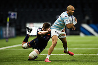 4th April 2021; Paris La Défense Arena, Nanterre, Paris, France; European Champions Cup Rugby, Racing 92 versus Edinburgh;  S Zebo ( 23 - Racing ) is held in the tackle