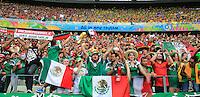 Mexican Fans as Teams enter the Stadium<br /> --------------------<br /> BPI<br /> 2014 FIFA World Cup<br /> Group A<br /> Brazil v Mexico<br /> Fortaleza de São João, Rio de Janeiro, Brazil<br /> 17 June 2014<br /> ©2014 BPI all rights reserved