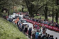 Early Break away group up the Floorberg. with Tsgabu Grmay (ETH/Trek Segafredo), G Lawson Craddock (USA/Cannondale Drapac), Kevin Teltombe (BEL/Sport Vlaanderen Baloise), Edward Dunbar (IRL/Aqua Blue Sport), Bram Tankink (NED/Lotto NL - Jumbo) <br /> <br /> 53th Amstel Gold Race (1.UWT)<br /> 1 Day Race: Maastricht > Berg en Terblijt (263km)