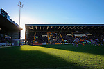 Notts County 0 Mansfield Town 0, 14/01/2017. Meadow Lane, League Two. Adam Collin of Notts County and his goal caught in a shaft of sunlight. Photo by Paul Thompson.
