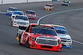 NASCAR Camping World Truck Series<br /> Las Vegas 350<br /> Las Vegas Motor Speedway, Las Vegas, NV USA<br /> Saturday 30 September 2017<br /> Cody Coughlin, Ride TV/ Jegs Toyota Tundra and Johnny Sauter, Allegiant Travel Chevrolet Silverado<br /> World Copyright: Russell LaBounty<br /> LAT Images