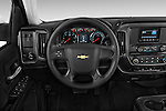 Car pictures of steering wheel view of a2015 Chevrolet Silverado 2500 HD Work Truck Double Cab LWB 4 Door  Steering Wheel