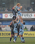 Paul Tito wins the line out. Cardiff Blues V Ospreys , Magners League.© Ian Cook IJC Photography iancook@ijcphotography.co.uk www.ijcphotography.co.uk