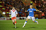 Nicky Law turns in goal no 5 for Rangers