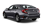 Car pictures of rear three quarter view of a 2019 Honda honda LX 4 Door Sedan angular rear