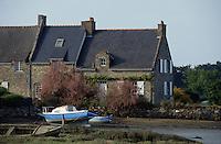 Europe/France/Bretagne/56/Morbihan/Golfe du Morbihan/Kerollet: Chaumière