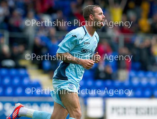 St Johnstone v Bristol City....28.07.12  Pre-Season Friendly.Trialist Rowan Vine celebrates the second goal.Picture by Graeme Hart..Copyright Perthshire Picture Agency.Tel: 01738 623350  Mobile: 07990 594431