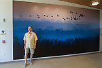 This photograph by Michael Knapstein is one of the signature images featured in the new UW Hospital at the American Center in Madison, Wisconsin. The image is 10 feet high and 18.5 feet wide.