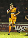 07/01/2009  Copyright Pic: James Stewart.File Name : sct_jspa05_motherwell_v_hearts.CHRIS PORTER CELEBRATES AFTER HE HEADS HOME MOTHERWELL'S FIRST .James Stewart Photo Agency 19 Carronlea Drive, Falkirk. FK2 8DN      Vat Reg No. 607 6932 25.Studio      : +44 (0)1324 611191 .Mobile      : +44 (0)7721 416997.E-mail  :  jim@jspa.co.uk.If you require further information then contact Jim Stewart on any of the numbers above.........