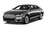 2018 Lincoln MKZ Reserve 4 Door Sedan Angular Front stock photos of front three quarter view