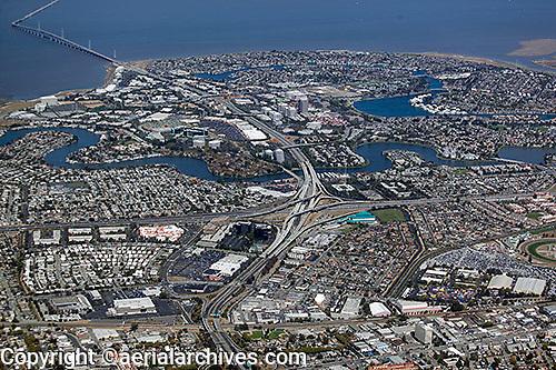 aerial photograph Foster City, San Mateo county, California