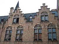 Unique architecture dating to the 1600's in Brugge, Belgium