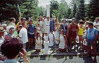 Villagio Italia toga dress up party - Haines Falls NY 1970