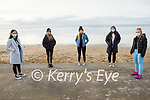 Ready to take a stroll on the beach in Ballyheigue on Sunday, l to r: Michaela Barrett, Siún Moriarty, Ruby O'Riordan, Ailbhe Stack and Chloe McElligott.