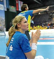 Handball Champions League Frauen 2013/14 - Handballclub Leipzig (HCL) gegen Metz (FRA) am 10.11.2013 in Leipzig (Sachsen). <br /> IM BILD: Natalie Augsburg (HCL) <br /> Foto: Christian Nitsche / aif
