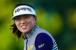 TAOYUAN, TAIWAN - OCTOBER 22: Amy Yang of South Korea smiles on the 14th green during day three of the LPGA Imperial Springs Taiwan Championship at Sunrise Golf Course on October 22, 2011 in Taoyuan, Taiwan. Photo by Victor Fraile / The Power of Sport Images