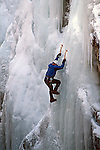 DAREDEVIL CLIMBER DESCENDS ICE PARK