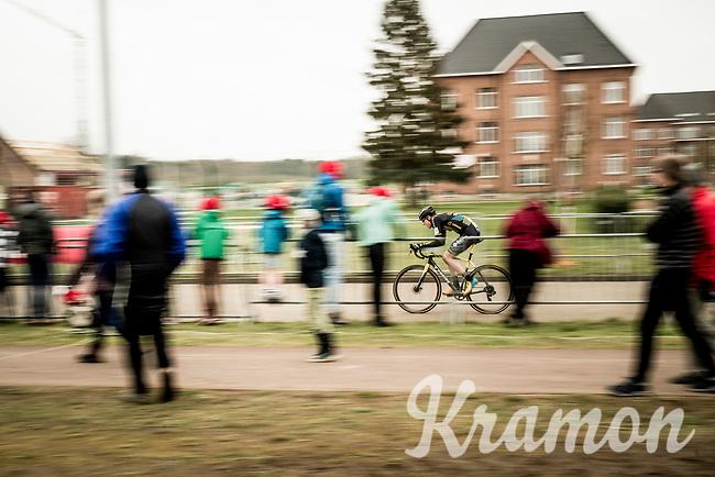 Yentl Bekaert (BEL/U23/Telenet Baloise Lions)<br /> <br /> Elite + U23 Men's Race<br /> CX GP Leuven (BEL) 2020<br />  <br /> ©kramon