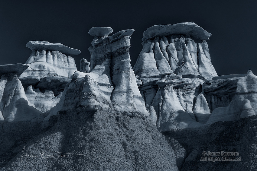 Hoodoo Metropolis, Bisti Badlands, New Mexico ©2017 James D Peterson.