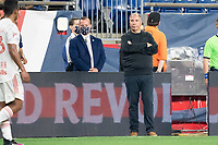 FOXBOROUGH, MA - MAY 22: New England Revolution coach Bruce Arena during a game between New York Red Bulls and New England Revolution at Gillette Stadium on May 22, 2021 in Foxborough, Massachusetts.