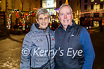Brendan and Aileen Griffin enjoying the evening in Tralee on Friday.