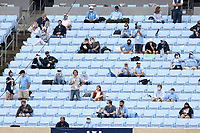 CHAPEL HILL, NC - OCTOBER 10: Fans sit socially distanced from each other during a game between Virginia Tech and North Carolina at Kenan Memorial Stadium on October 10, 2020 in Chapel Hill, North Carolina.