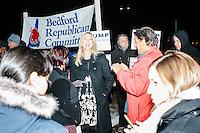Donald Trump - NH Campaign - Polling Location - Ivanka Trump - Donald Trump, Jr. - Supporters - Bedf