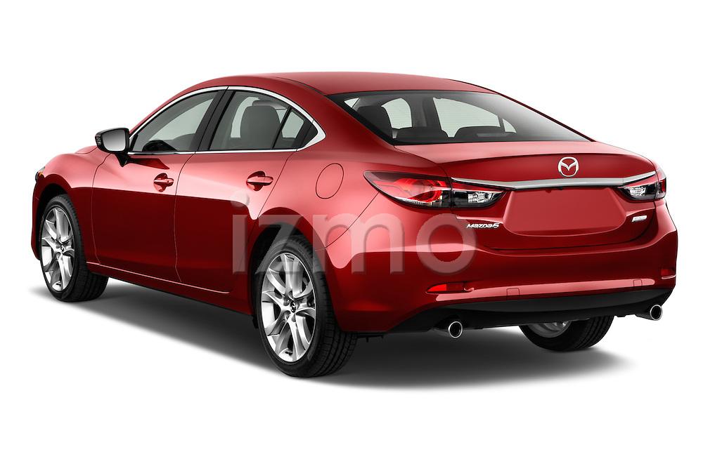 Rear three quarter view of a 2014 Mazda Mazda6 i Touring Sedan