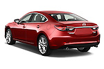 Rear three quarter view of a 2014 Mazda Mazda6 i Touring Sedan