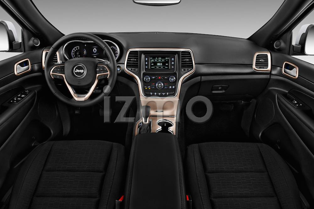 Stock photo of straight dashboard view of 2017 JEEP Grand-Cherokee Laredo 5 Door SUV Dashboard