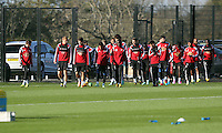 Pictured: Players arriving Wednesday 05 November 2014<br /> Re: Swansea City FC players training at Fairwood training ground, ahead of their Premier League game against Arsenal on Sunday.
